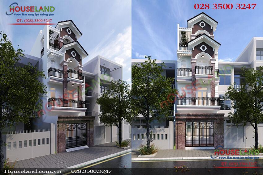 Mẫu thiết kế nhà phố hiện đại 4 tầng 4x16m