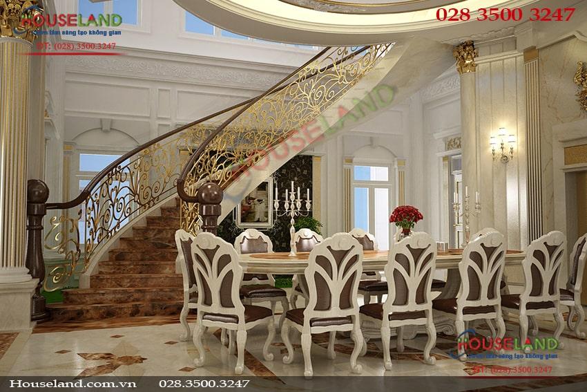 Mẫu thiết kế nội thất biệt thự cổ điển đẹp sang trọng