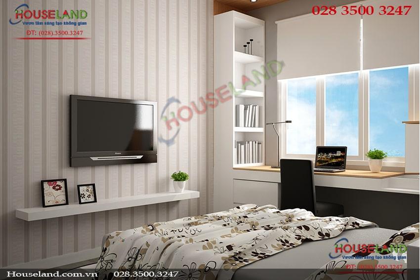 Mẫu thiết kế nội thất chung cư 48m2 đẹp sang trọng