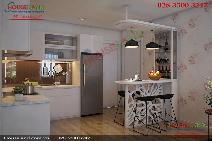 Mẫu thiết kế nội thất chung cư 52m2 đẹp