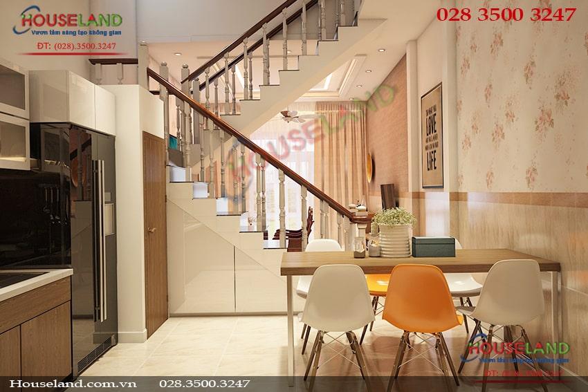 Mẫu thiết kế nội thất nhà phố 4x15m đẹp