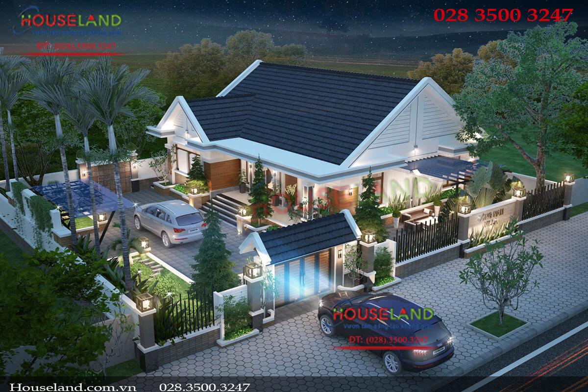 Tổng hợp các mẫu thiết kế nhà biệt thự 1 tầng mái thái đẹp