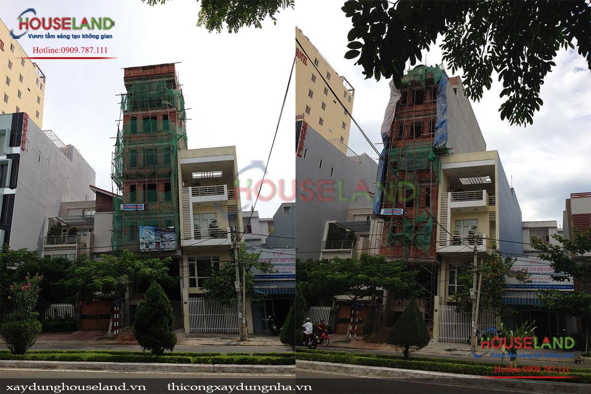 Thi công nhà phố kết hợp cho thuê ở TPHCM
