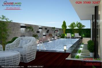 Mẫu thiết kế biệt thự 3 tầng hiện đại đẹp có hồ bơi