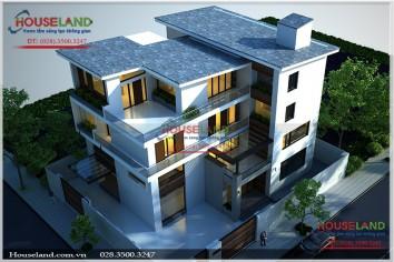 Mẫu thiết kế biệt thự 250m2 4 tầng đẹp phong cách hiện đại