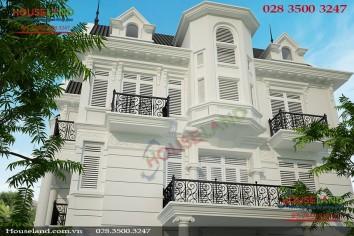 Mẫu thiết kế biệt thự phố tân cổ điển đẹp sang trọng