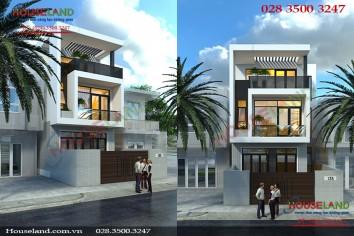 Mẫu thiết kế nhà phố 3 tầng 5x20m hiện đại trẻ trung