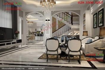 Mẫu thiết kế nội thất biệt thự bán cổ điển đẹp