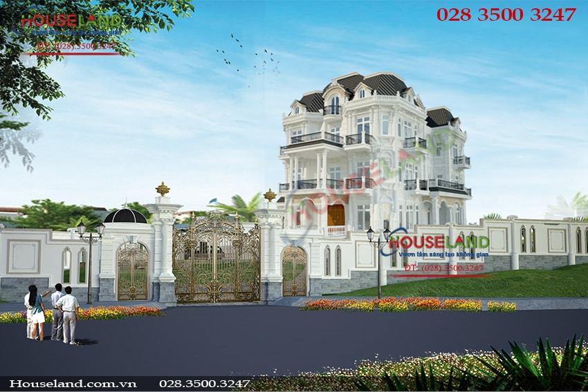 Mẫu thiết kế biệt thự cổ điển pháp đẹp ở Vũng Tàu