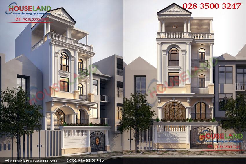 Mẫu thiết kế nhà phố 5 tầng 7x10m