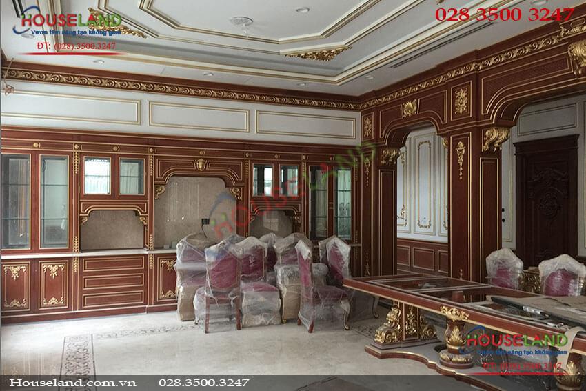 Thi công nội thất biệt thự tân cổ điển nhà anh Tuấn