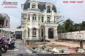 Thi công biệt thự cổ điển 3 tầng ở Đồng Nai