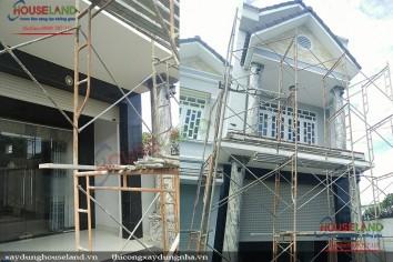 Thi công xây dựng biệt thự phố 3 tầng ở Bình Dương