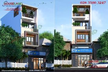 Thiết kế nhà ở kết hợp văn phòng cho thuê đẹp hiện đại