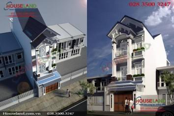 Mẫu thiết kế nhà phố 3 tầng hiện đại đẹp ấn tượng
